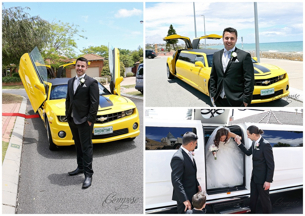 Bumblebee wedding limo