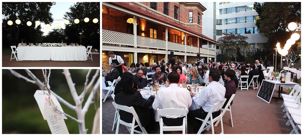 Outdoor wedding reception Perth