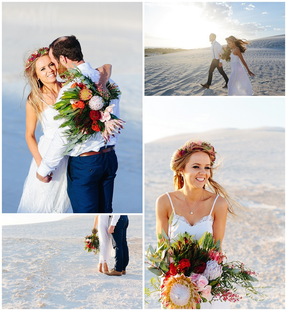 Australian native wedding flowers make for a stunning wedding photo