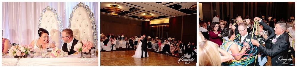 Wedding reception thrones