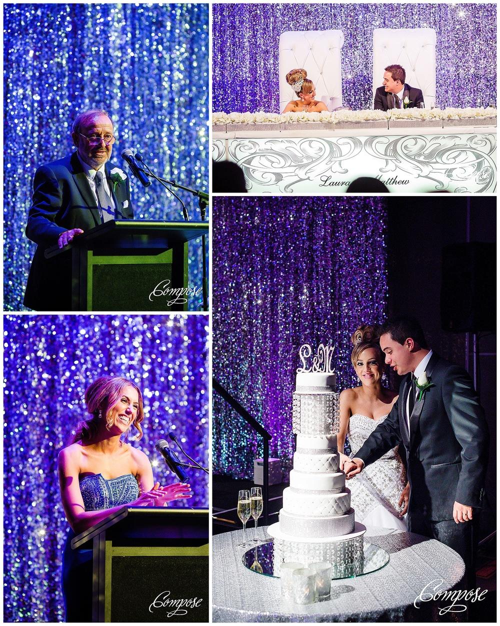 Wedding reception table backdrop