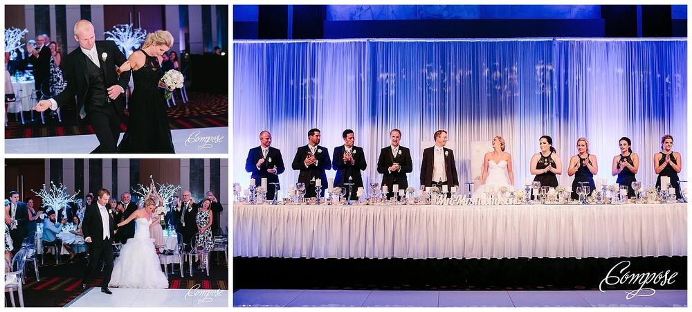Bridal table at Crown