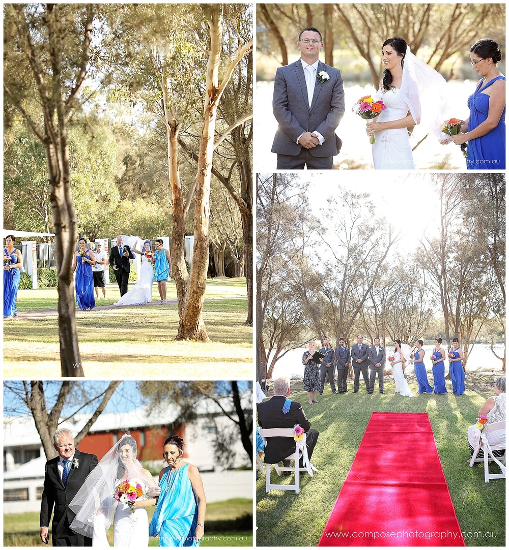 Wedding ceremony on the river Perth