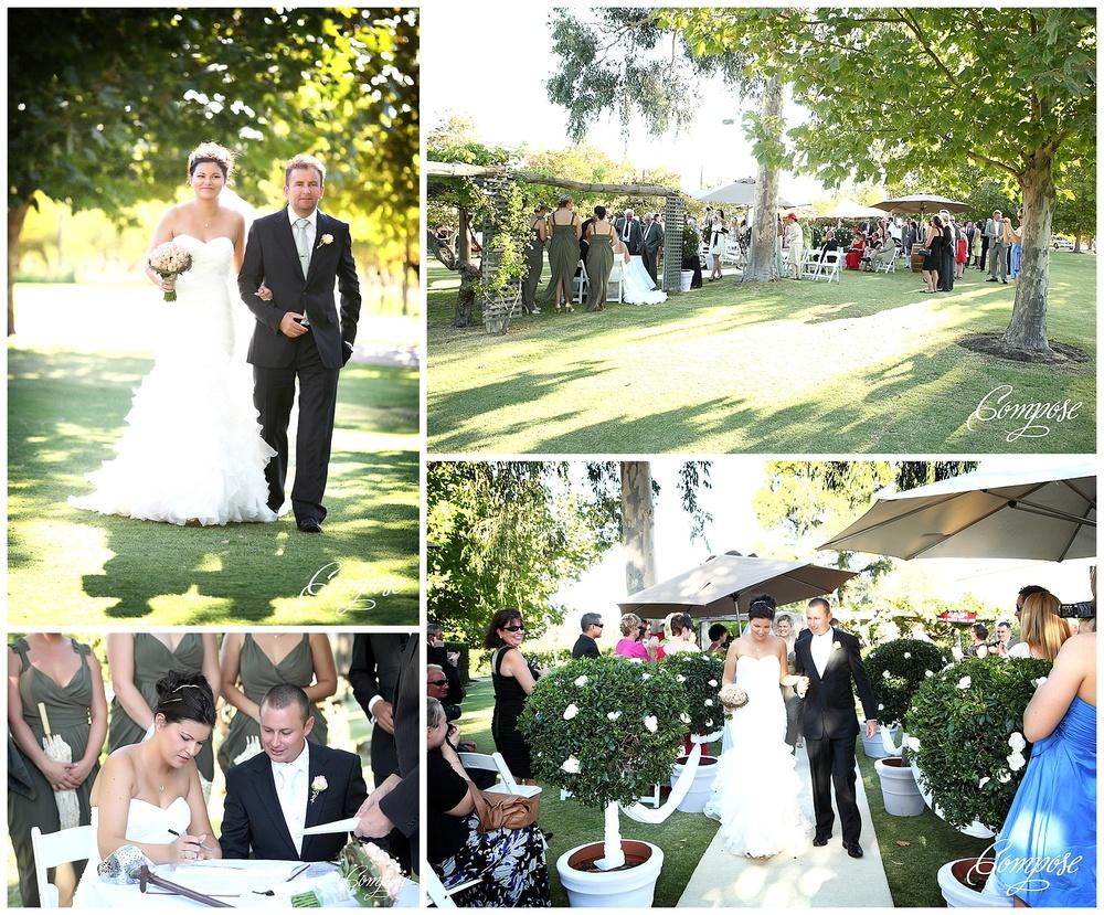Vineyard wedding ceremony Perth