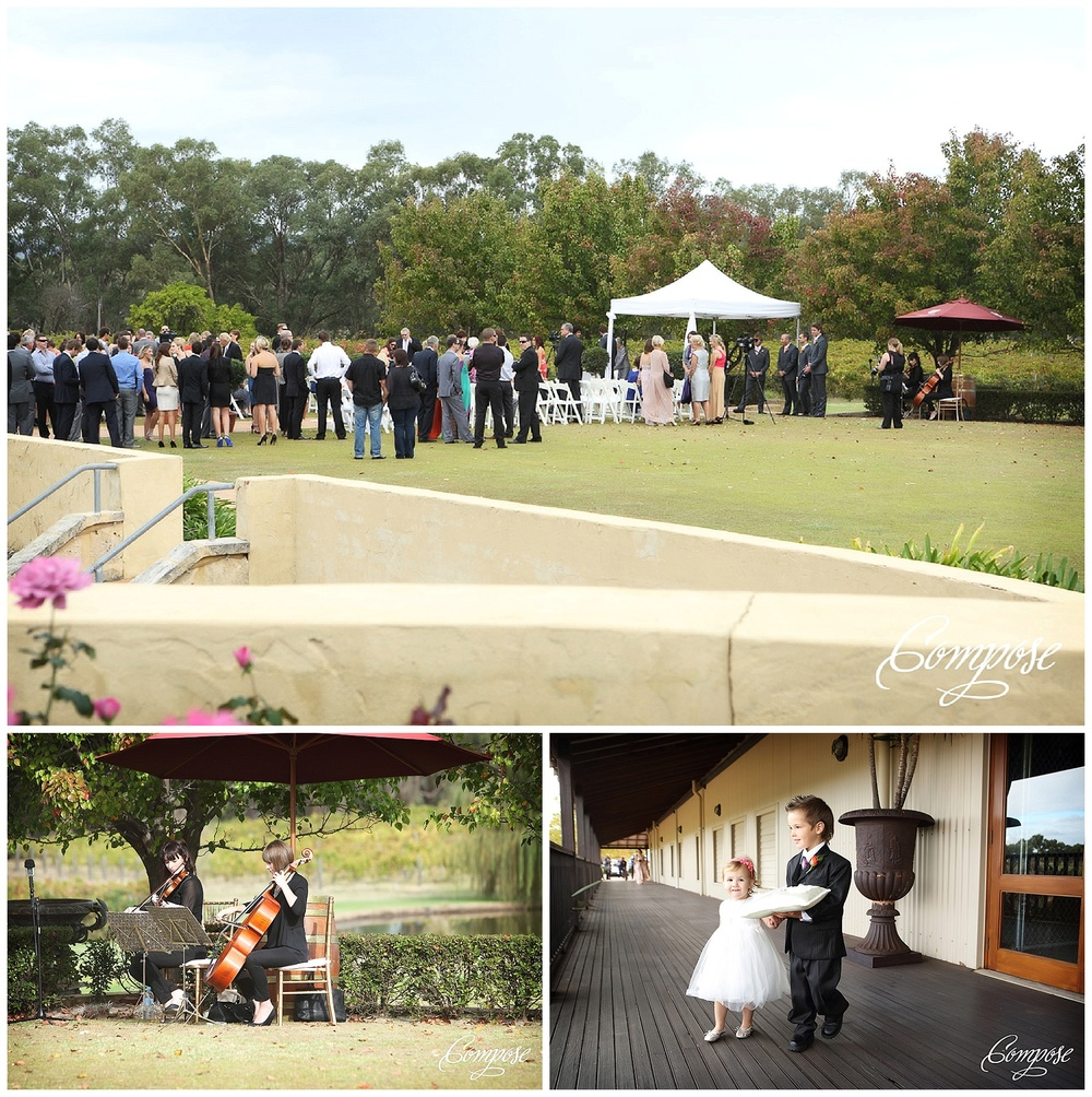 Garden wedding ceremony Swan Valley