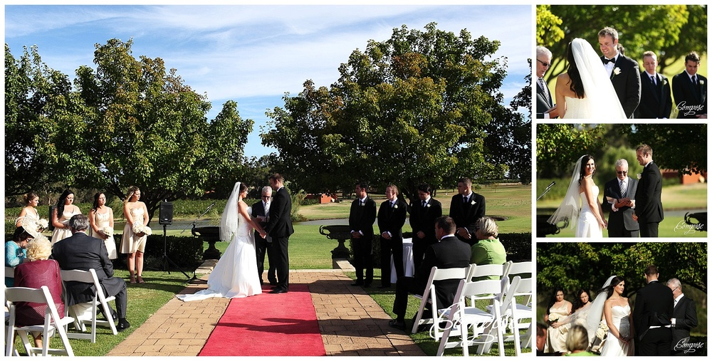 Outdoor wedding ceremony at Sandalford