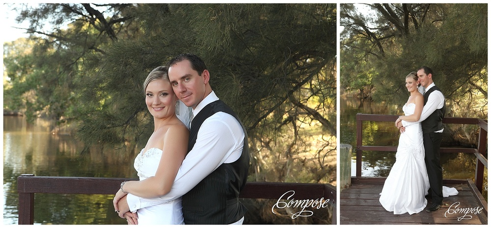 Sandalford wedding by the river