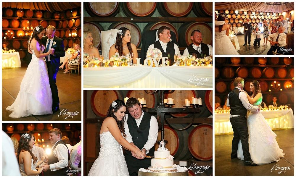 Sandalford Barrel room wedding