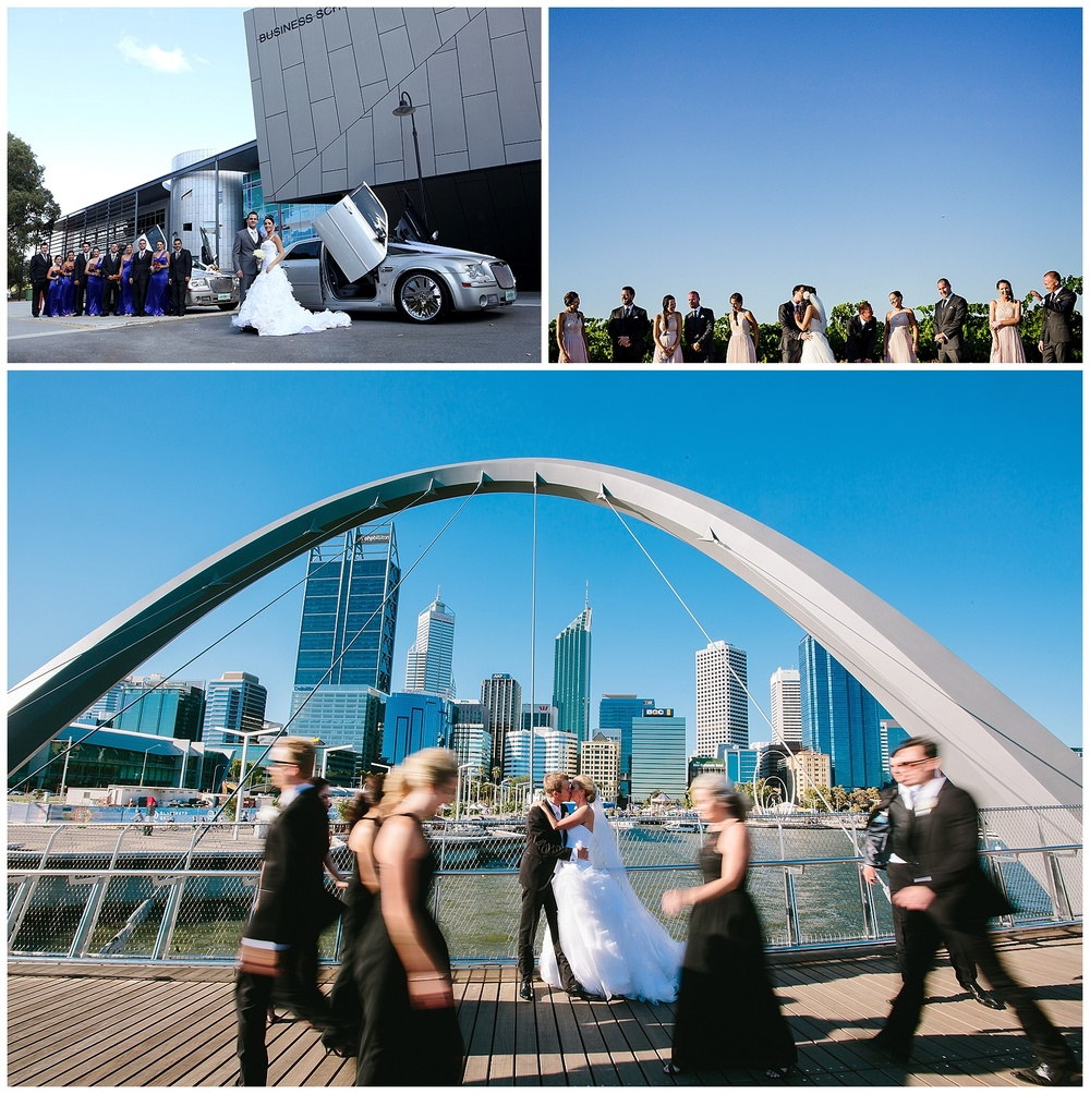 Elizabeth Quay wedding photo