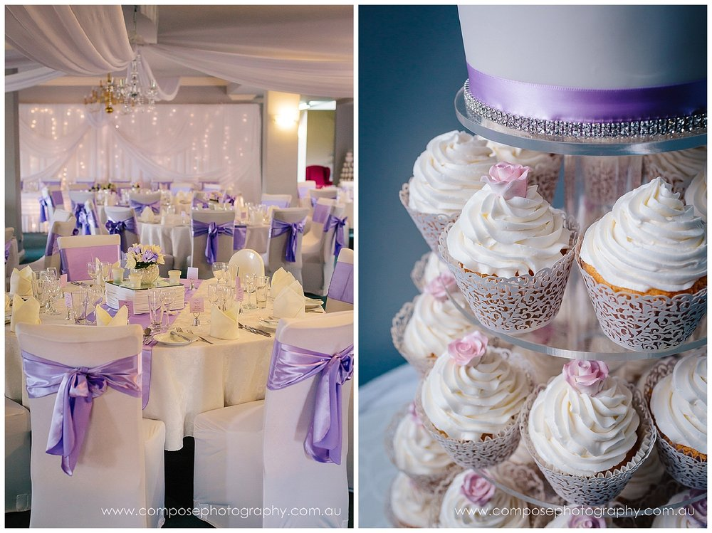 Lilac colour scheme at wedding