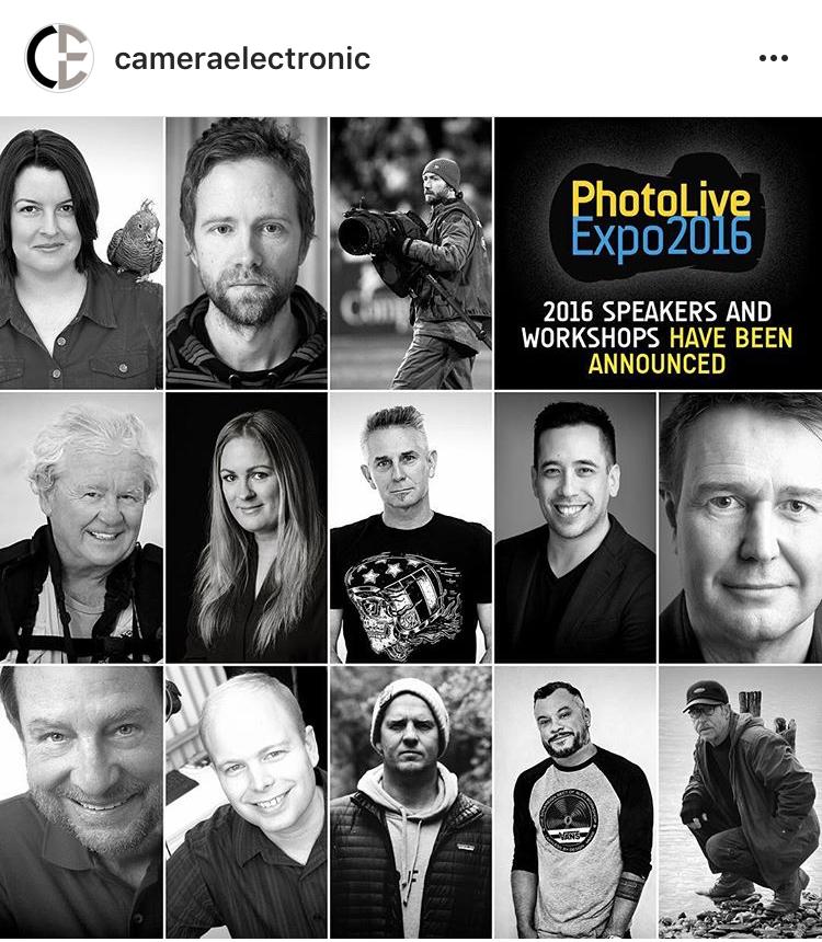PhotoLive Expo 2016 Presenter