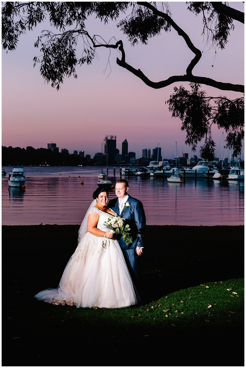 Sunset wedding at Matilda Bay
