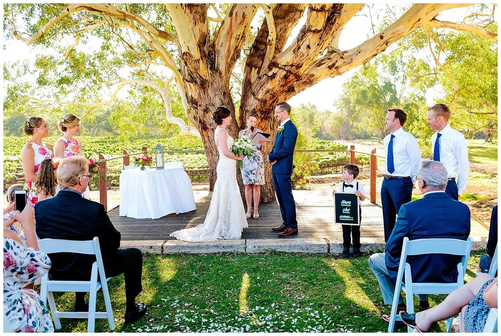 Vineyard wedding Perth