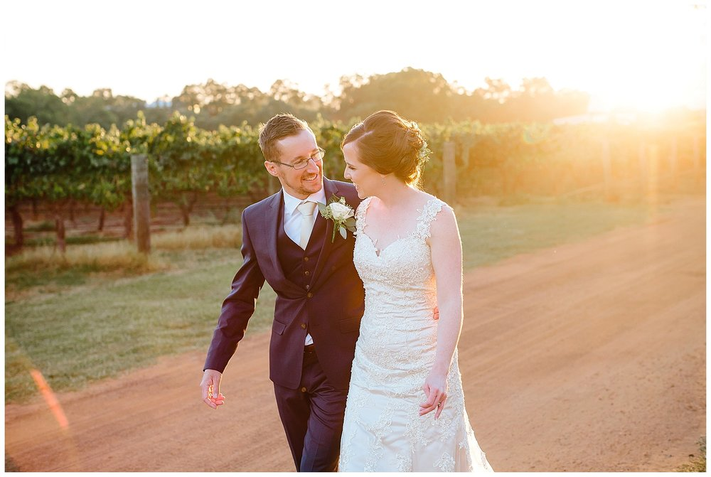 Sunset wedding Perth