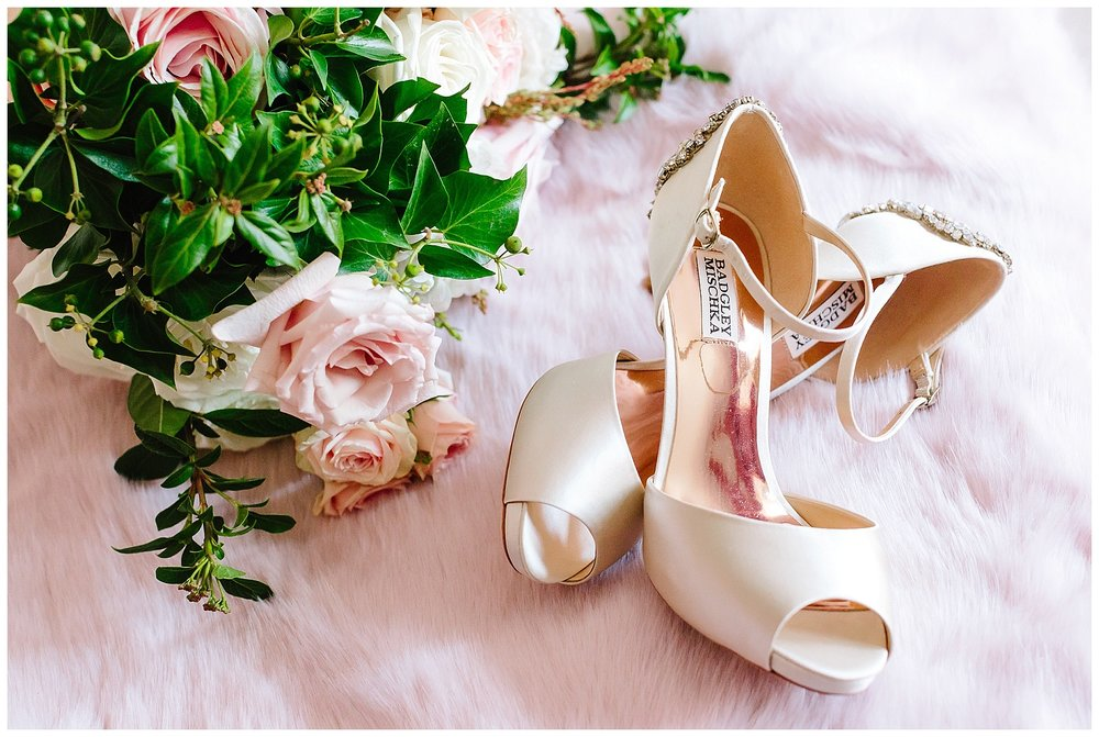 Badgely Mischka wedding shoes