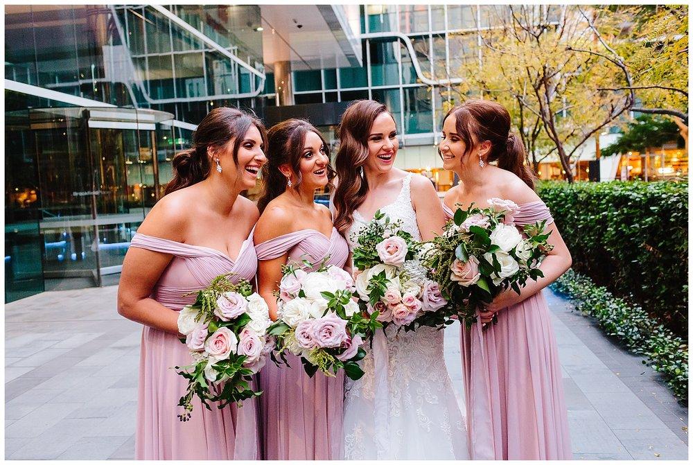 wedding photos at Brookfield Place