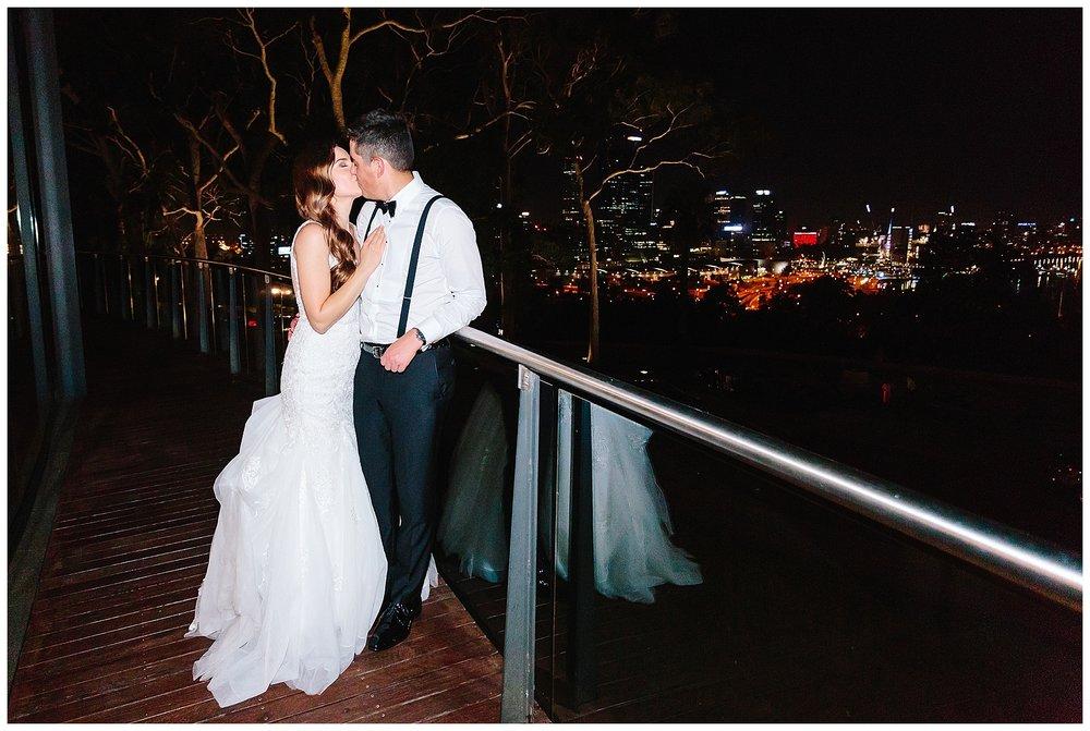 Kings Park night wedding photo