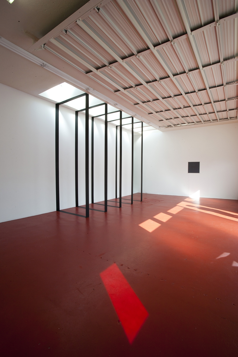5 Black Rectangles, Compact Gallery, 2011 - Photo: Steve E. Miller