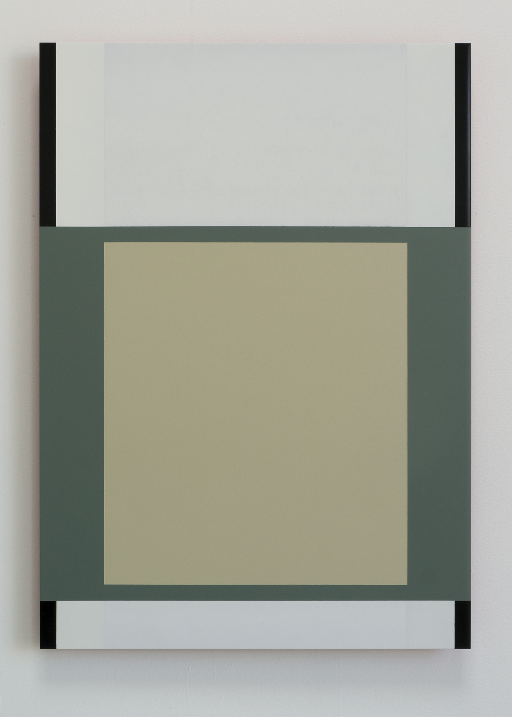 """Green Square""  2014  28"" x 20"",  spray paint on aluminum"
