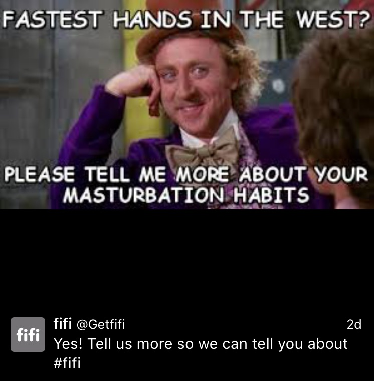Are you fucking kidding me? Did you fuck up the  Condescending Wonka  meme? It's not like it's fucking hard to read between the lines, I mean look at his face, it's patronising as fuck!  Oh, I see, you thought it was a generic Gene Wilder meme, because you're making a reference to Blazing Saddles...what, you could find an image from Blazing Saddles? You thought no one would notice? Or did you just think that The Waco Kid wore a fucking purple velour suit when he was gunslinging?!   Also...what the fuck is that font?! Argh! My eyes!