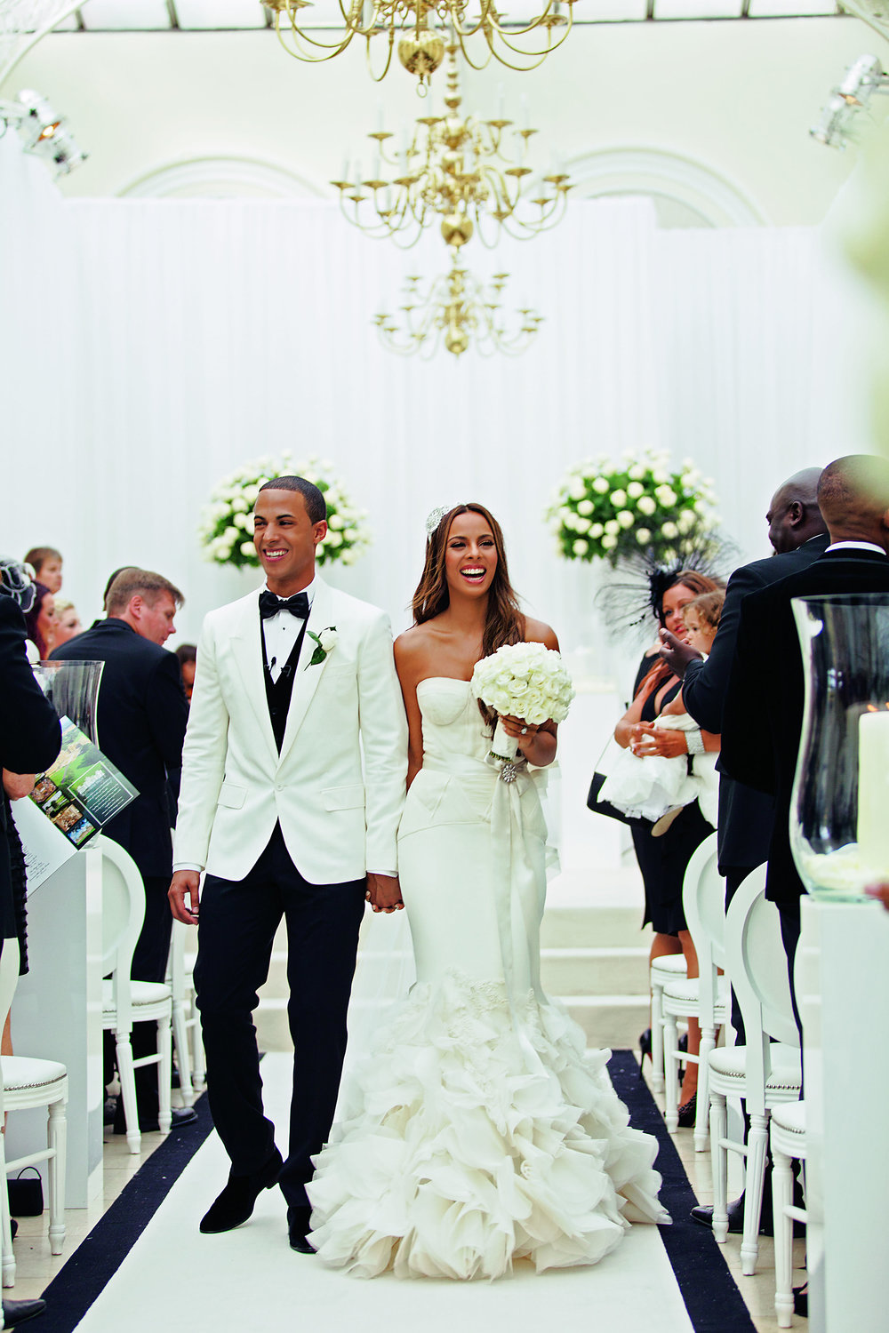 Photo credit:HELLO magazine  Rochelle and Marvin Humes|Blenheim Palace