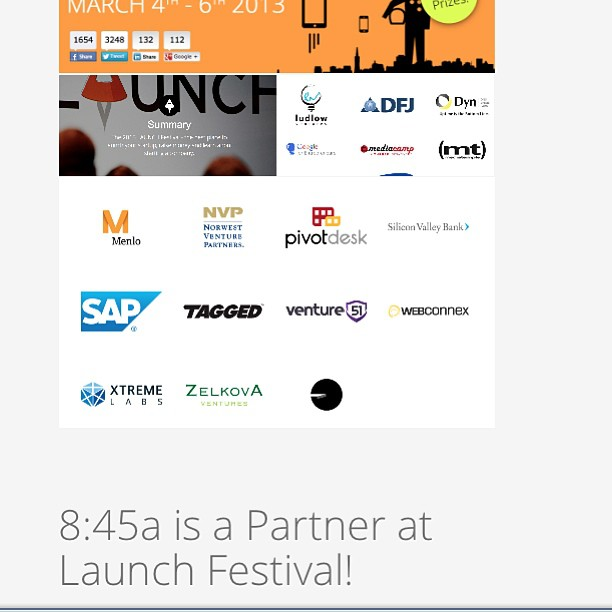 We're a partner at Launch Festival! We'll on the on the floor meeting and greeting 4,000+ people plus providing the photography March 4-6 @ SF Design Concourse Center.