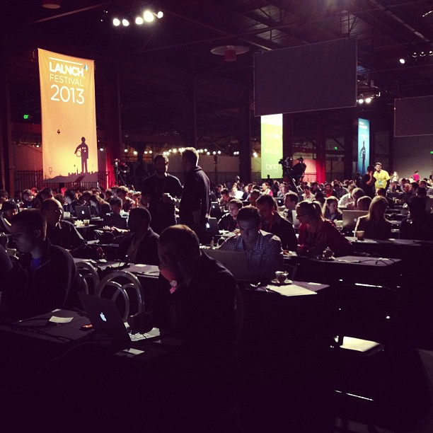 People and more people at #LAUNCH2013.