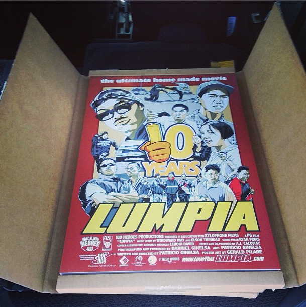 Exclusive poster for Lumpia's 10 Year Anniversary Screening    This Friday, August 9 at Daly City's Century 20 theatre, these posters will be given out to the attendees! [We're at the bottom! ;)]   Use this code to get a discount on buying your ticket!  FOGTOWN     http://lumpia10.brownpapertickets.com/    Image courtesy of  Patricio Ginelsa