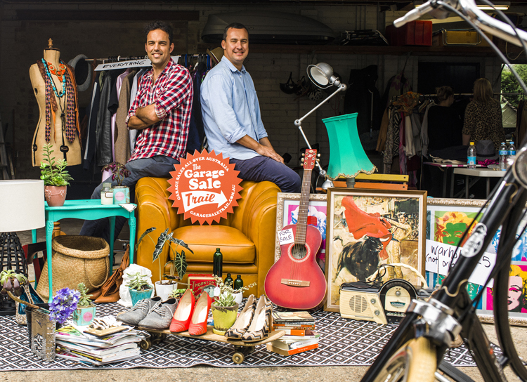 Garage Sale Trail founders Andrew Valder and Darryl Nichols