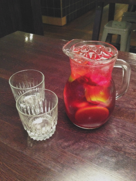Grace Sangria- Vodka, Elderflower, Lemon, Cranberry and Rose