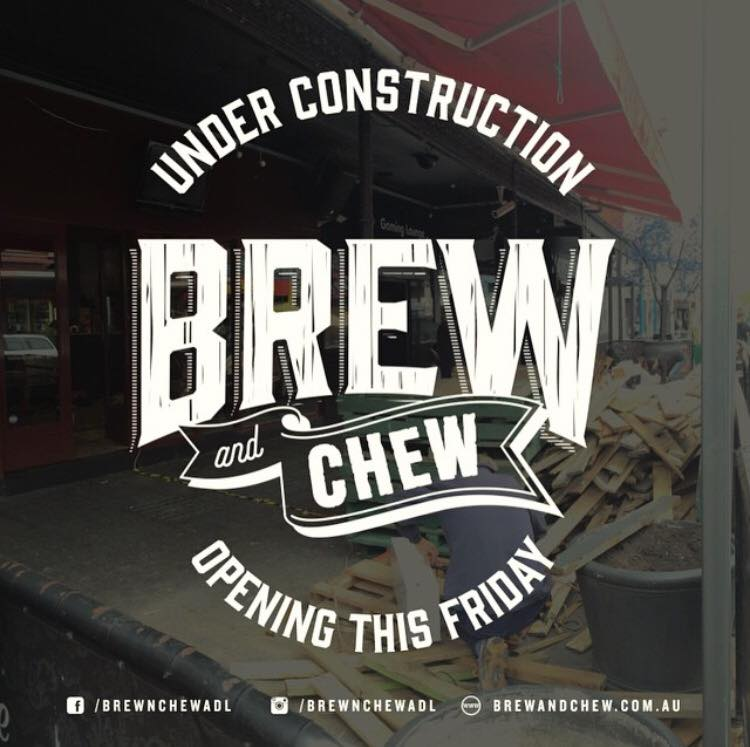 Brew and Chew is set to open tonight, Friday 10th April in the heart of Adelaide's West End