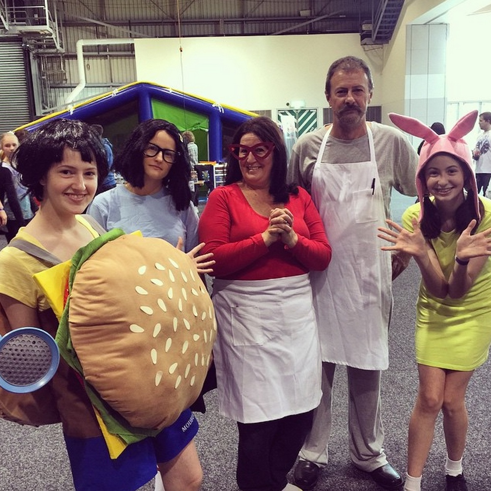Bobs Burgers family on fleek! via @ozcomiccon Instagram.