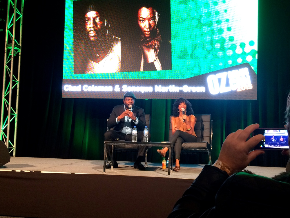 Chad and Sonequa so comfortable it was like we were in their living room.