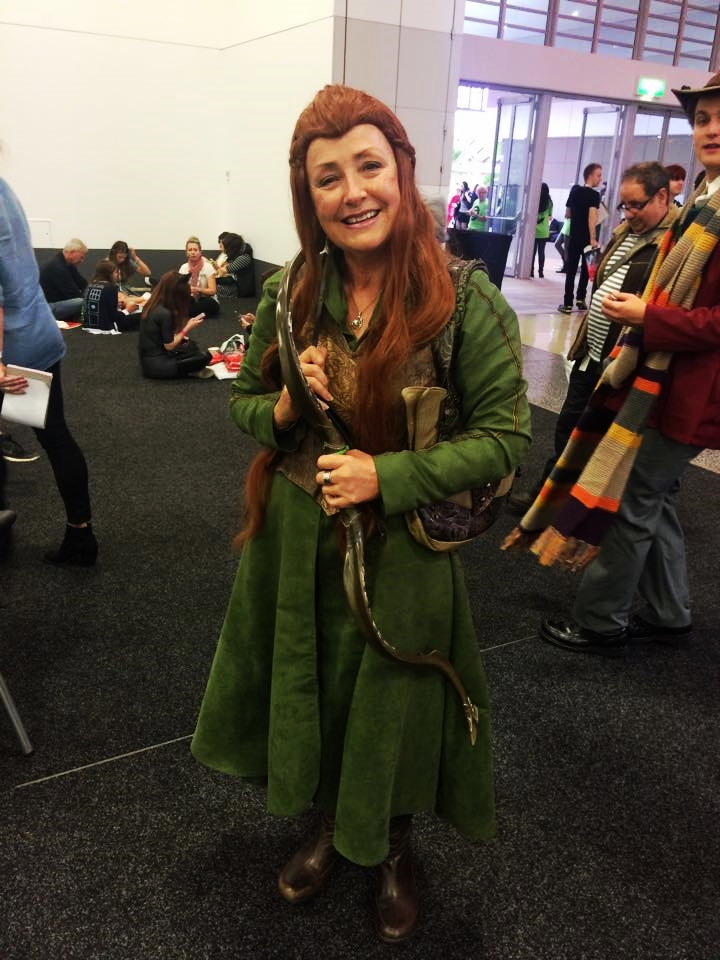 "Why did you choose to dress up for Adelaide Ozcomic-Con? ""Because it's fun- I mean how often do you get to wear your costumes out in public without people judging you?"" Can you relate to the character you have chosen? ""Absolutely. She's a warrior and a healer, and so am I!"""