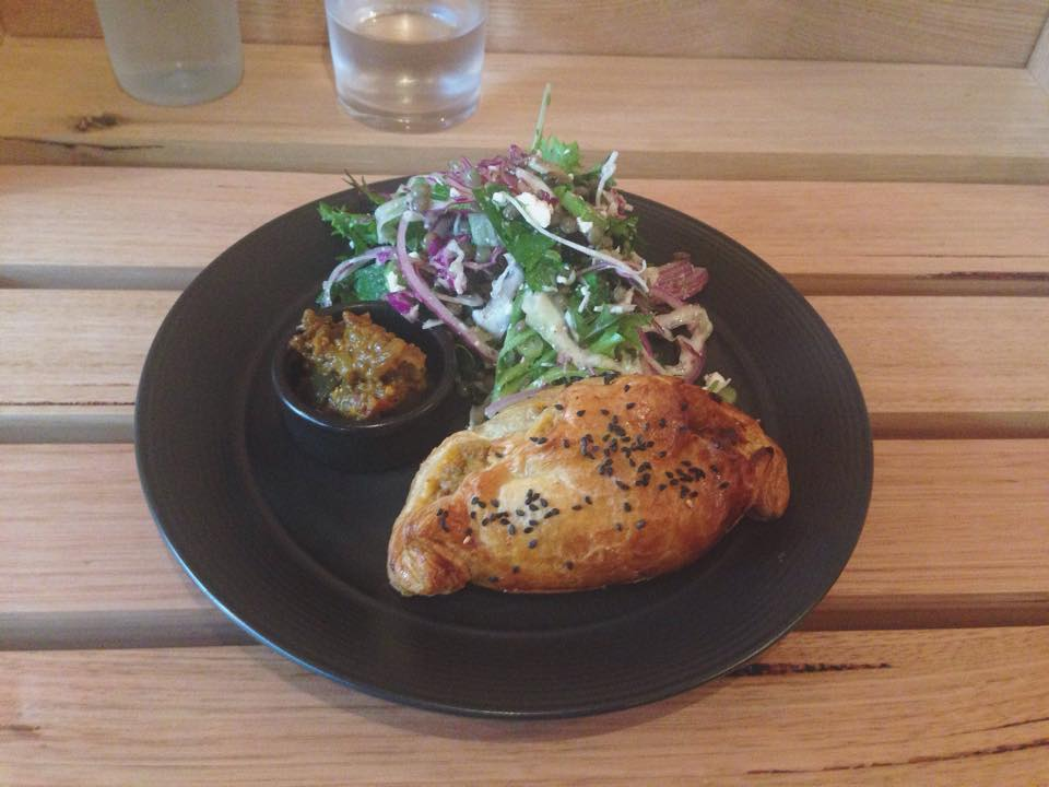Nasty Pasty with daily salad and Eggplant Kasundi via Bonnie McBride