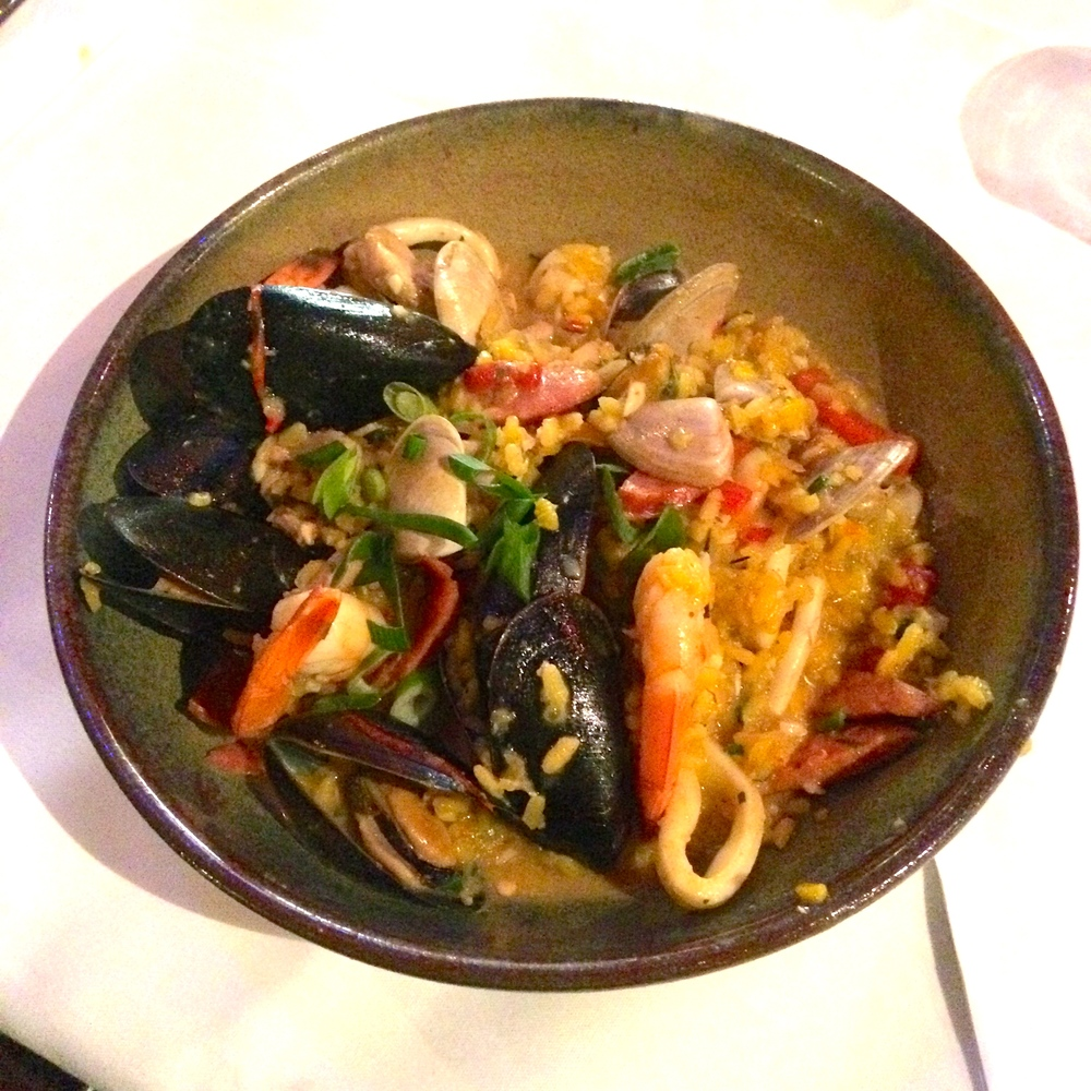 Paella Risotto with Chorizo, Chicken and Seafood