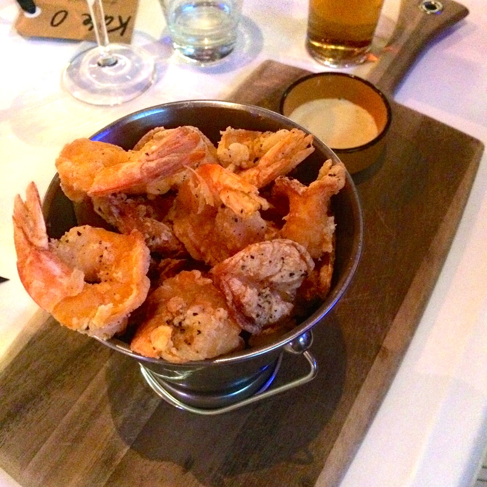 Lime and Black Pepper Crusted Prawn Bucket