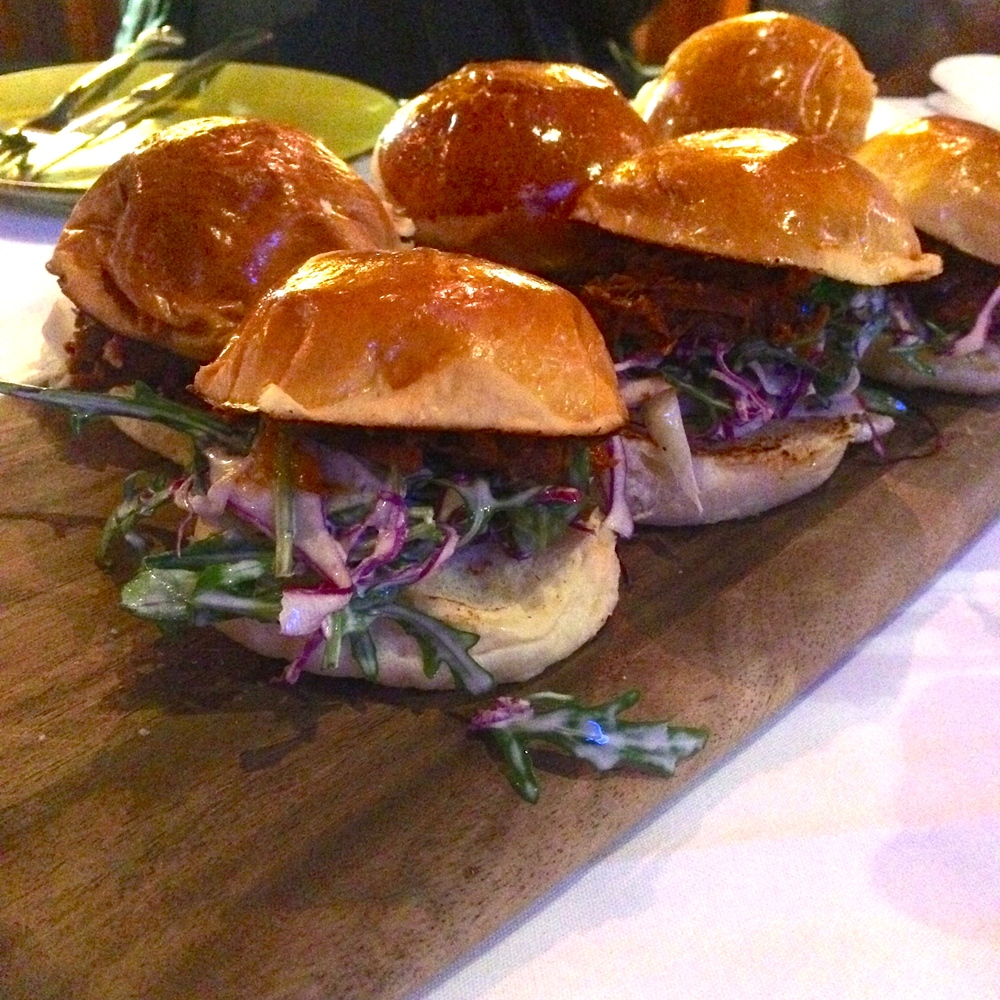 Chicken, Beef and Pork Sliders