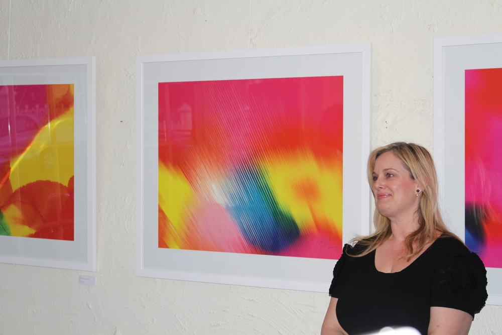Internationally renowned Adelaide artist, Emma Hack, officially opened the exhibition