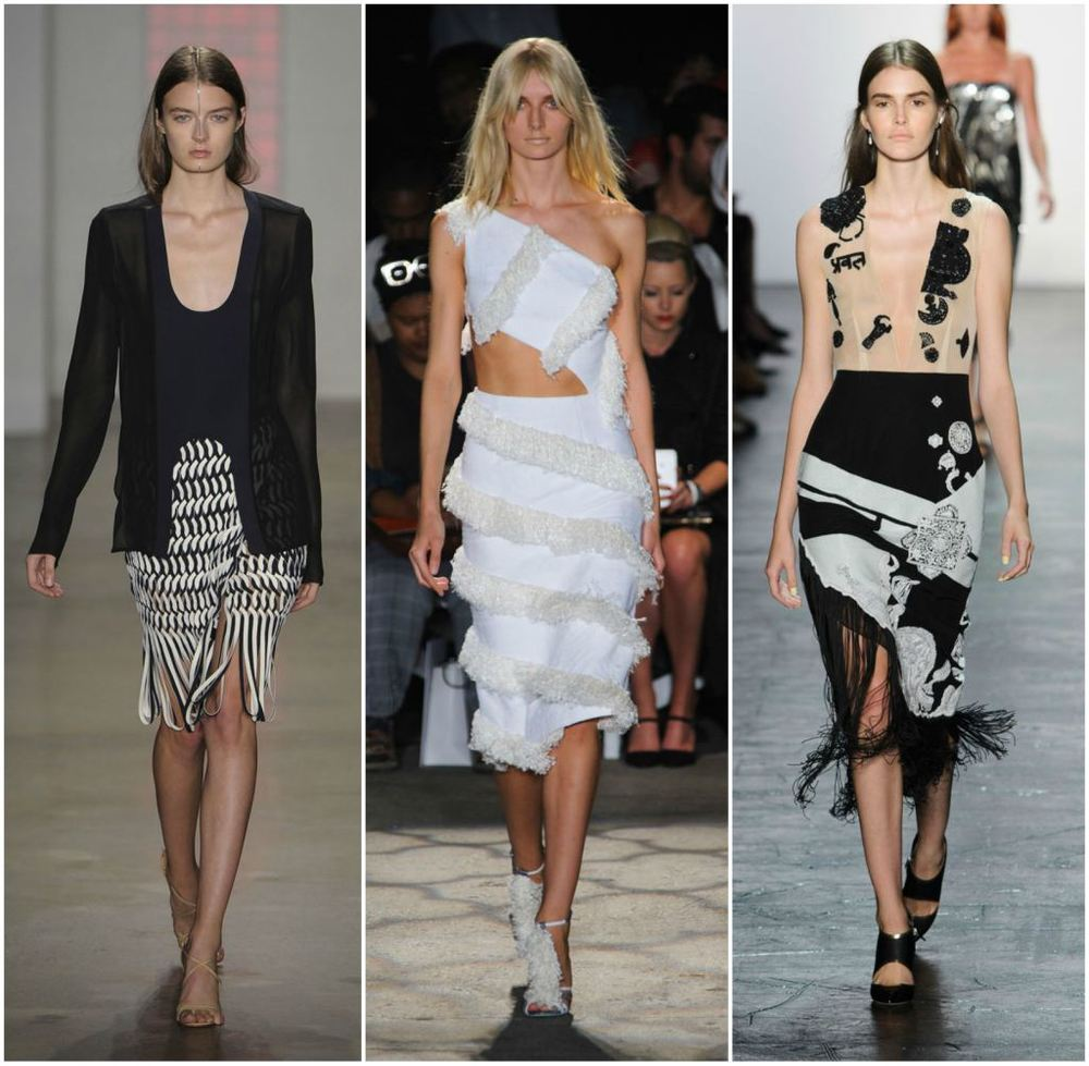 Fringing at NYFW 2016  via Stylecaster