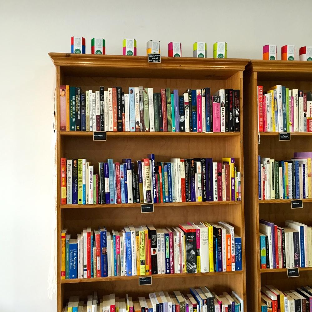 Books galore via Melina Scarfo.