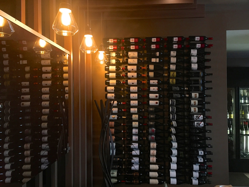 The iconic wine rack, what dreams are made of.