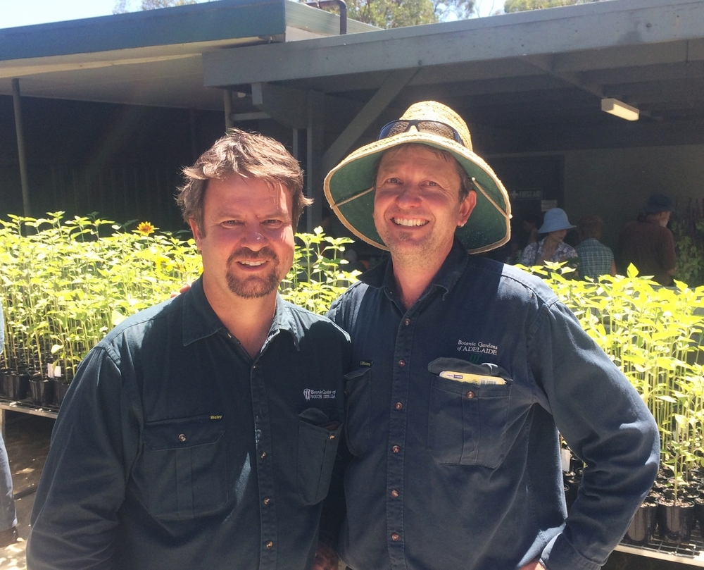 Propagation curator Matt Coulter and curator of the Rhododendron collection, Scott Foubister.