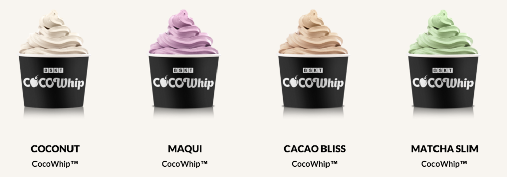 CocoWhip offical flavours