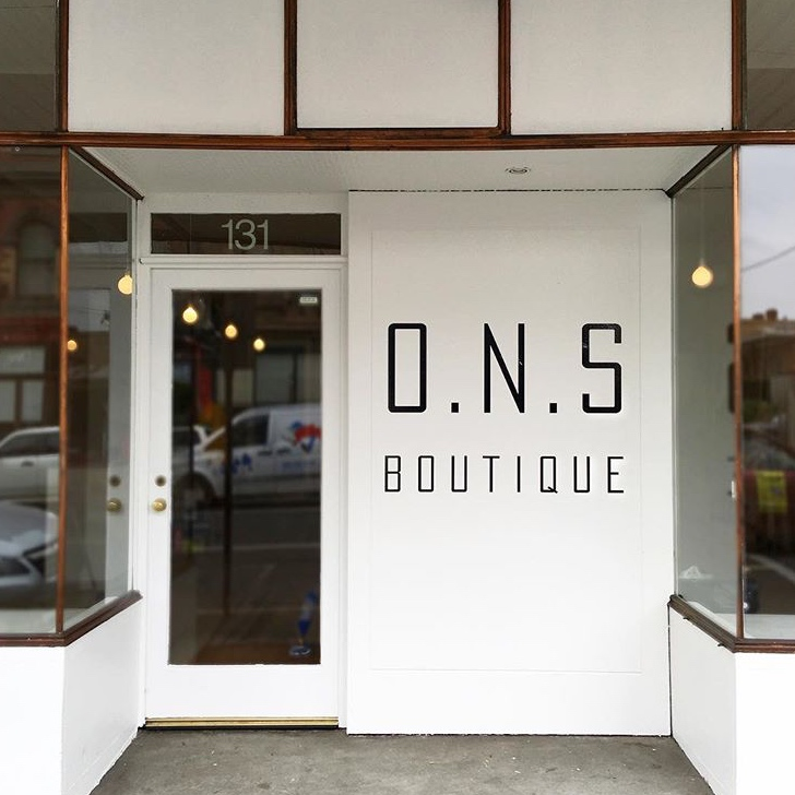 Outside the ONS Melbourne Boutique, via ONS Boutique Instagram.