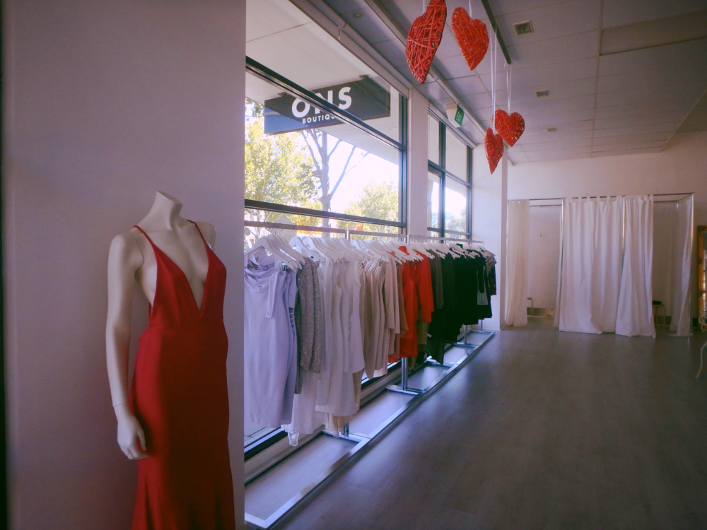 Walk into the sea of designer dresses at ONS Adelaide.