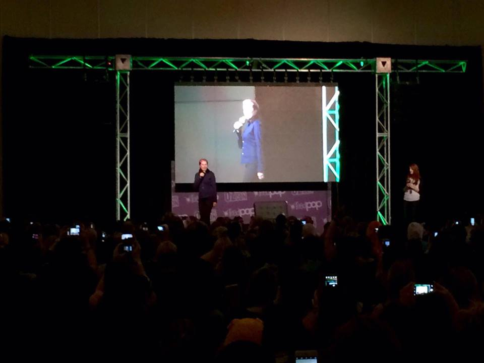 A full house for Lucy Lawless pushed me to the back