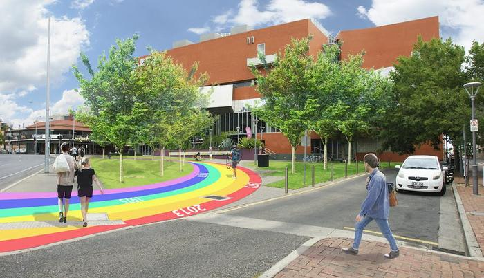 It's like Adelaide's own Yellow Brick Road. But better. Image via Adelaide City Council.