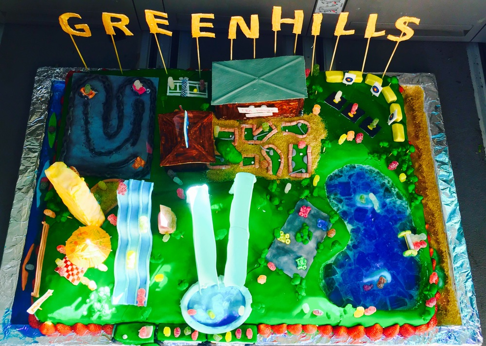 Greenhills Adventure Park cake made by Year 12 student Amber Lockwood. Photo taken by Meg Whibley.