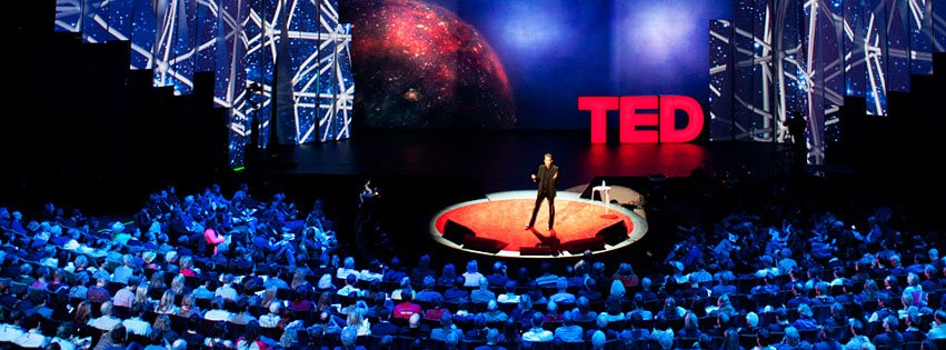 Who doesn't love a TEDTalk?   Image via TED on Facebook.